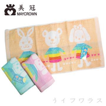 彩虹動物-8980/冰淇淋猴子-8981/-彩虹條紋點點童巾-8982-12入組