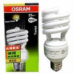 【歐司朗OSRAM】220V/230V 23W E27小螺旋省電燈泡 黃光(4入)