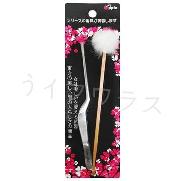 LS2118-1彎耳夾+碳化竹毛球&耳扒X3組