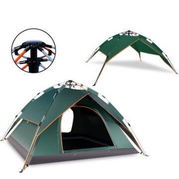 3秒速開自動帳篷,二用款四季自動帳篷(4-5人)綠