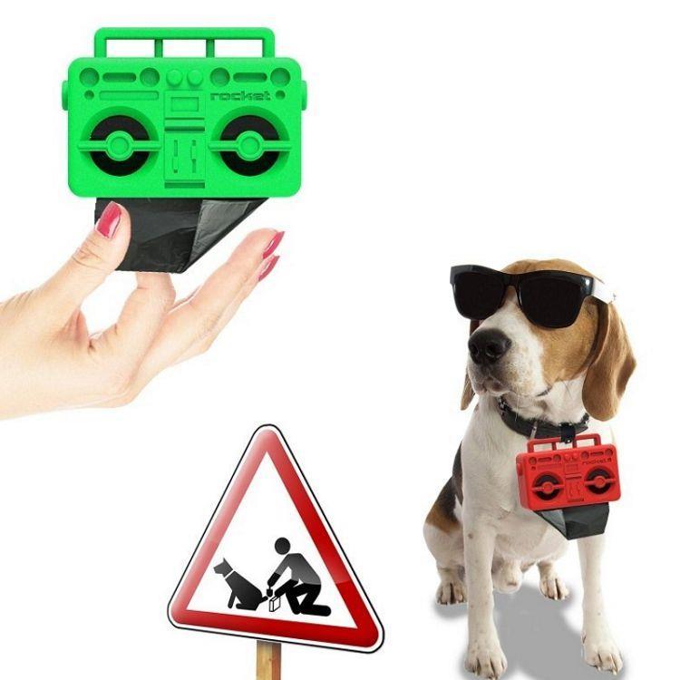 【義大利Rocket】音箱造型寵物撿便袋收納盒 Boom dog- BAG DISPENSER
