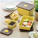 【台灣 S.E.E】Breere 無毒環保玉米澱粉保鮮盒四件組