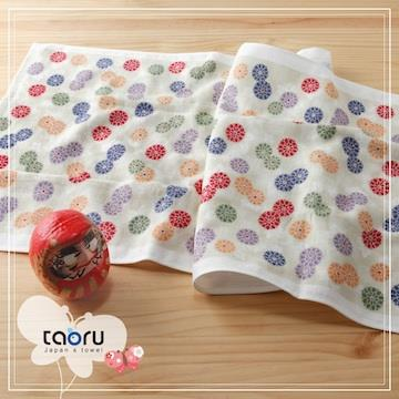 taoru【日本居家長毛巾】和的風物詩_小紋菊