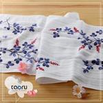 [日本居家長毛巾] 胡枝子 34 x 90 cm (和的風物詩系列 -- taoru 日本毛巾)