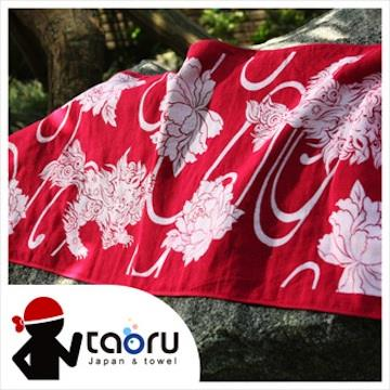 taoru【日本運動毛巾/頭巾】唐獅子牡丹