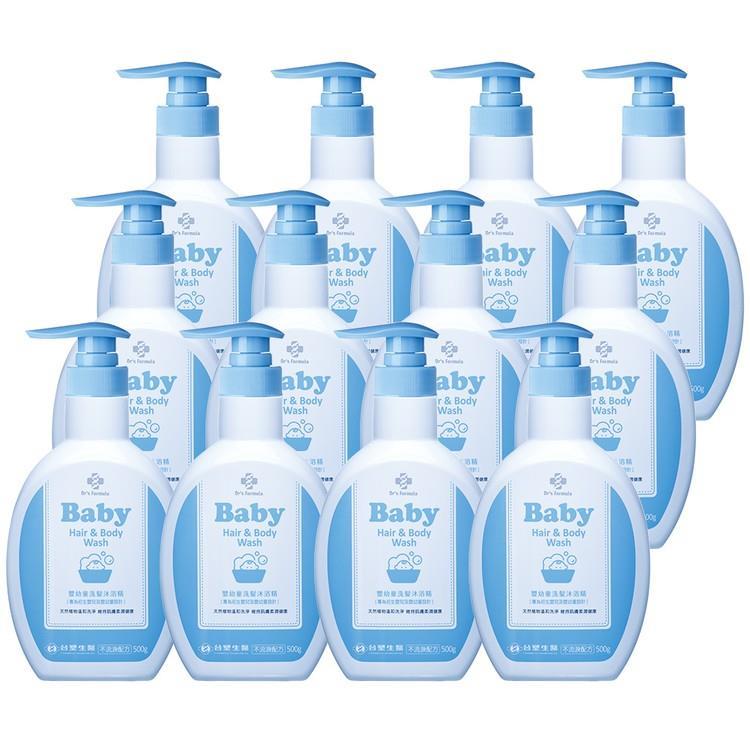 《台塑生醫》Dr's Formula嬰幼童洗髮沐浴精500g(12瓶)