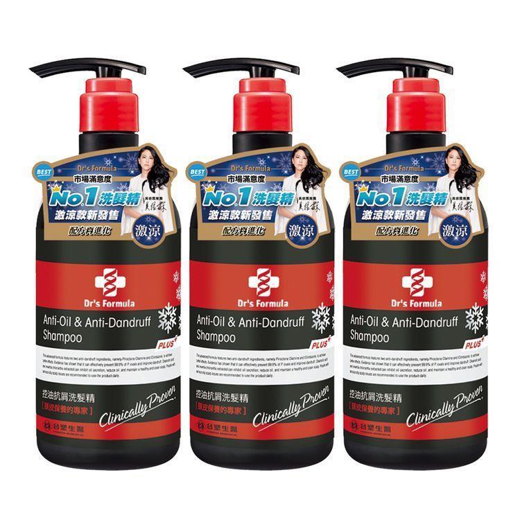 《台塑生醫》Dr's Formula控油抗屑洗髮精升級版(激涼款)580g**3入