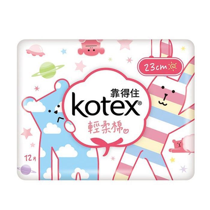 【靠得住】溫柔輕柔棉衛生棉-日用貼身23cm(12片x24包/箱)