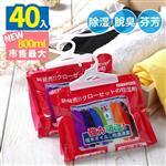【優宅嚴選】強力吸水800ml繽紛花香除濕袋-40入