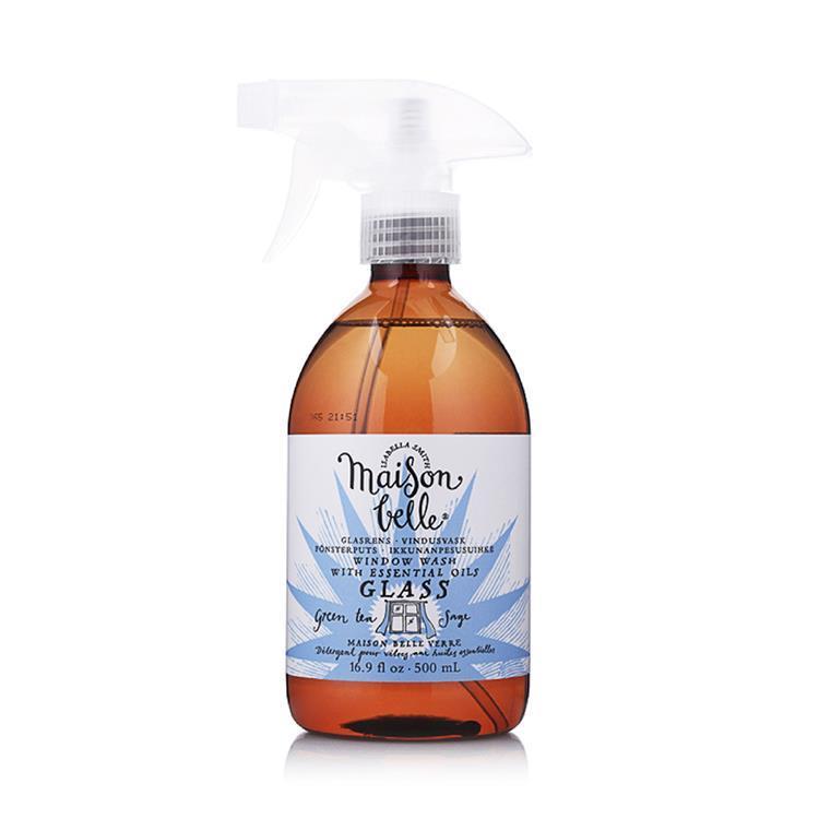 美生貝樂 植萃精油玻璃清潔劑(綠茶/山艾)500ml