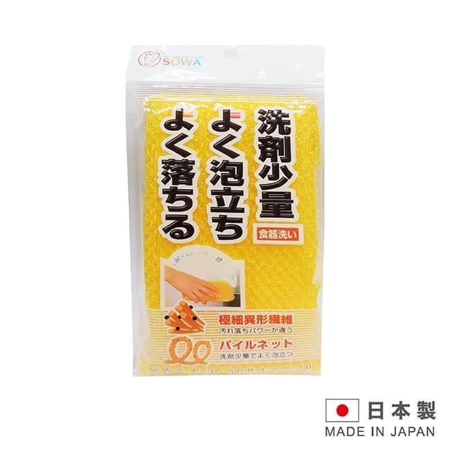 創和 日本製造 少量洗劑菜瓜布1入- K-001649(顏色隨機出貨)