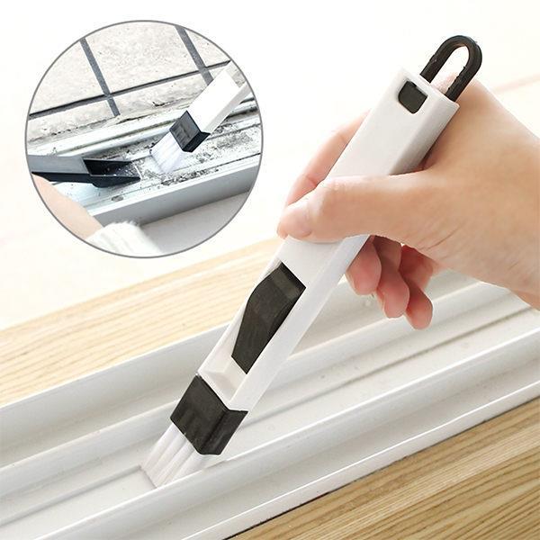 黑白簡約多用途廚房門窗隙縫清潔刷/鍵盤刷