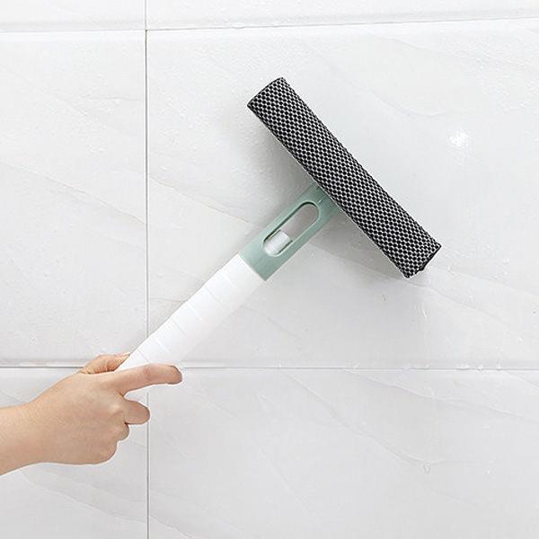 雙面刮刀海綿擦玻璃/洗車清潔工具-綠色(含噴瓶)