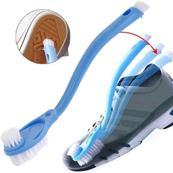 洗鞋專用雙頭長柄彎曲清潔刷