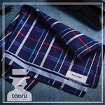 [型男必需品 : 日本手帕] 內斂蘇格蘭_海軍藍 (taoru 日本毛巾)
