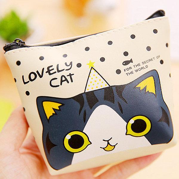 lovely Cat貓咪大集合皮質方形零錢包(隨機出貨)