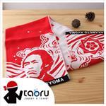 taoru【日本運動毛巾】坂本龍馬_紅色