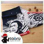 taoru【日本運動毛巾】坂本龍馬_藍色