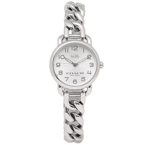 COACH 馬車LOGO鍊帶女錶-銀色(現貨+預購)