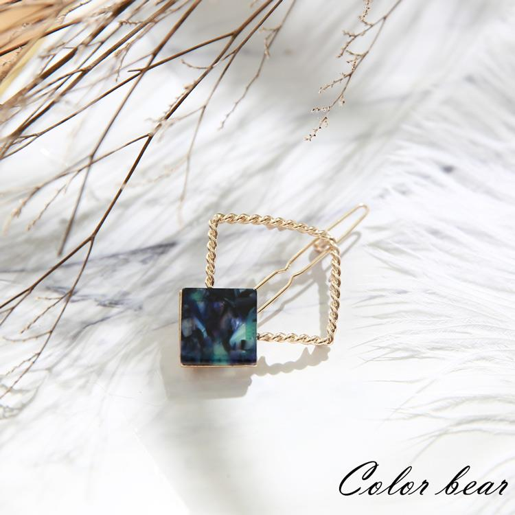 【卡樂熊】質感星球方框造型扣夾-星球藍
