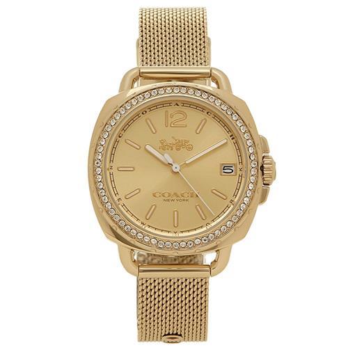 COACH 碎鑽不鏽鋼女錶-金色(現貨+預購)
