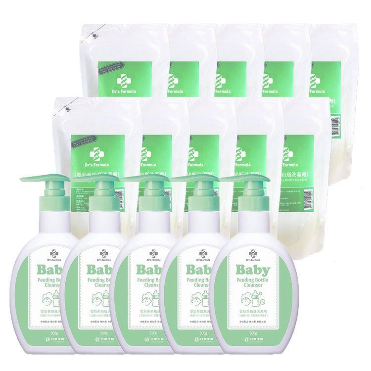 《台塑生醫》Dr's Formula嬰幼童奶瓶洗潔劑促銷組(5瓶+10包)