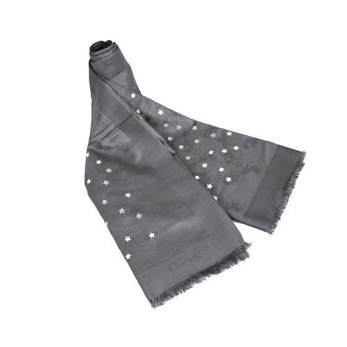 COACH 閃耀星星羊毛圍巾-灰色(現貨+預購)
