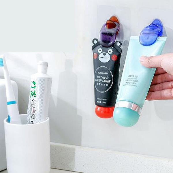 浴室無痕掛勾牙膏洗面乳掛夾(隨機出貨)