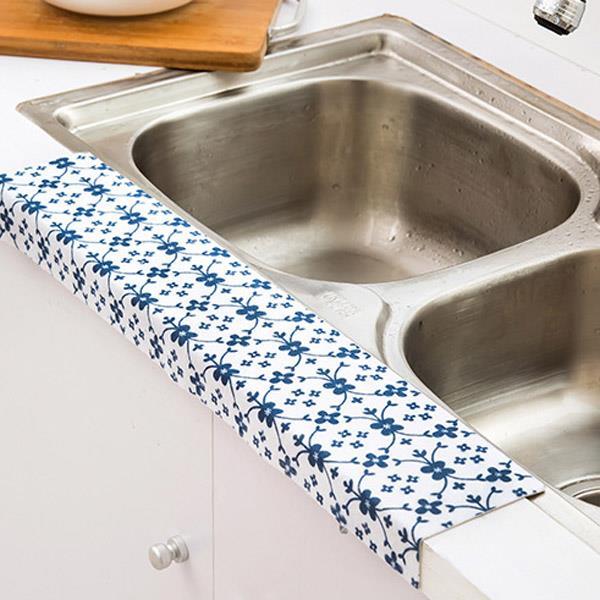 居家廚房浴室水槽防水靜電吸濕貼/防水貼(隨機出貨)