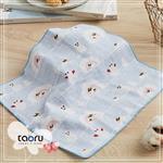 taoru【日本暢銷小手巾】和的風物詩_小兔子與雪人