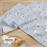 taoru【日本居家長毛巾】和的風物詩_小兔子與雪人
