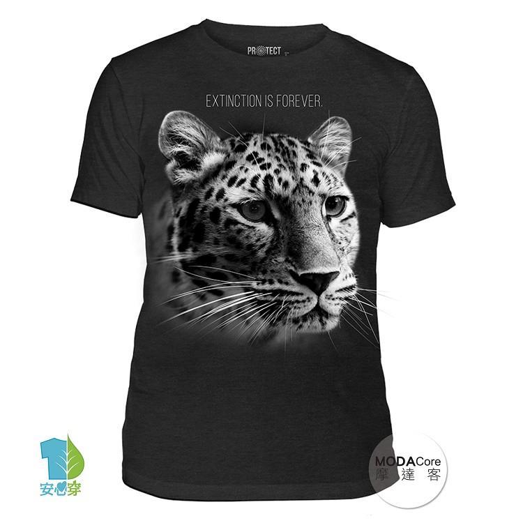 【摩達客】(預購+現貨)美國The Mountain保育系列 花豹永恆滅絕 中性短袖紀念T恤