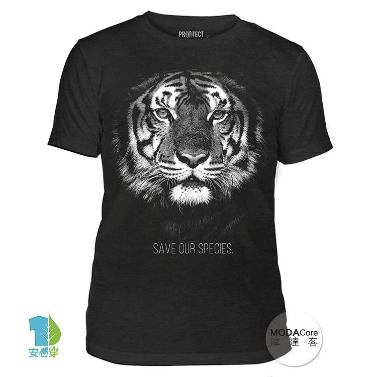 【摩達客】(預購+現貨)美國The Mountain保育系列 拯救老虎 中性短袖紀念T恤