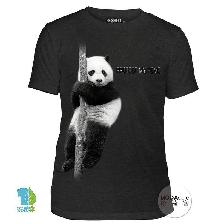 【摩達客】(預購+現貨)美國The Mountain保育系列 熊貓的家中性短袖紀念T恤