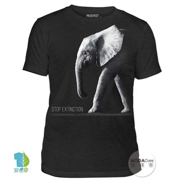 【摩達客】(預購)美國進口The Mountain 保護大象 中性短袖紀念T恤