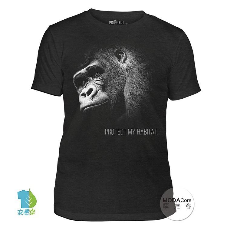 【摩達客】(預購)美國進口The Mountain 保護猩猩 中性短袖紀念T恤