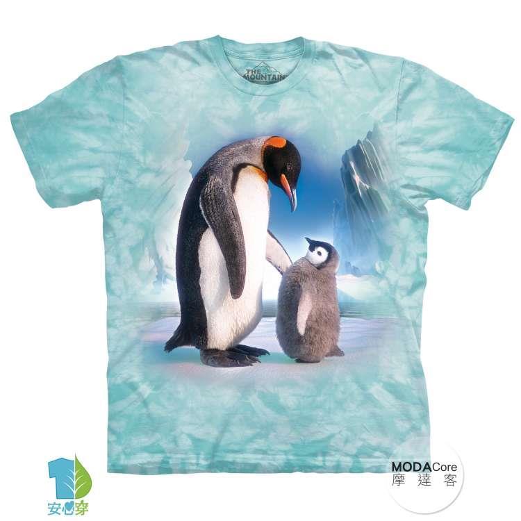 【摩達客】(預購)美國進口The Mountain 帝王企鵝傳承 純棉環保藝術中性短袖T恤