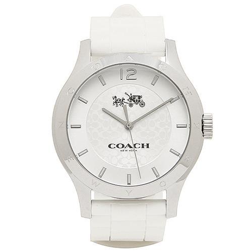 COACH 經典LOGO石英腕錶-白(現貨+預購)