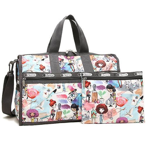 LESPORTSAC 大款假期旅行袋-藝術女孩(現貨+預購)