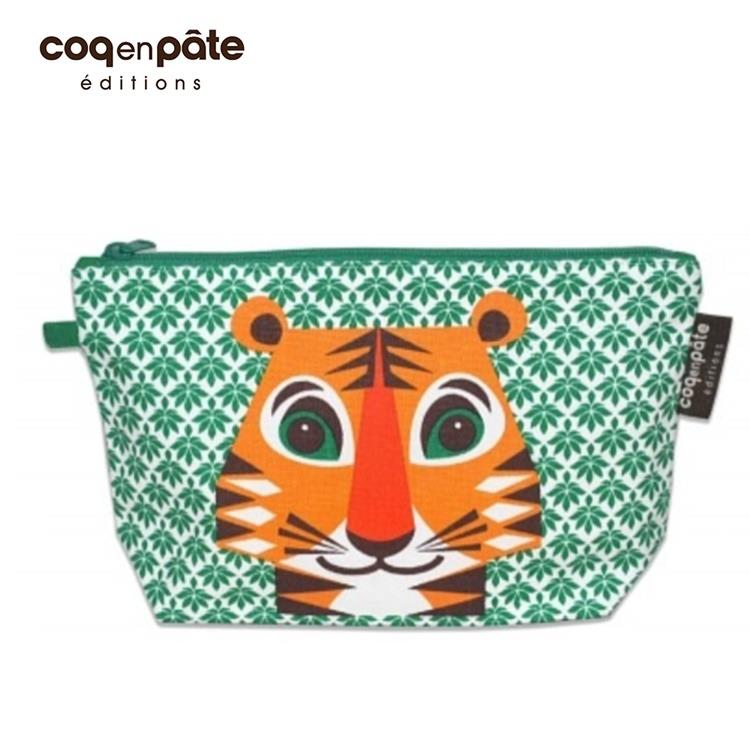 【Babytiger虎兒寶】coqenpate 法國有機棉無毒環保布包 / 大大水堅包 - 老虎