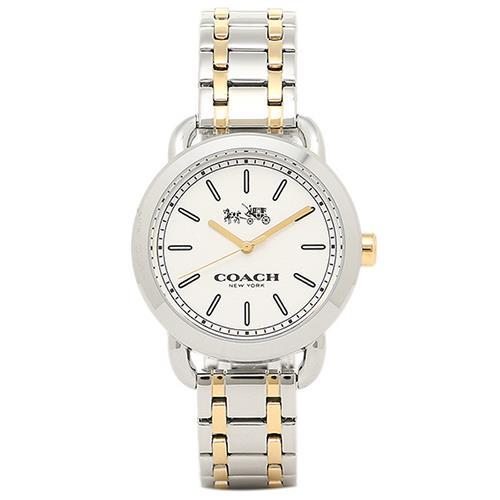 COACH 雙色不鏽鋼腕錶-銀(現貨+預購)
