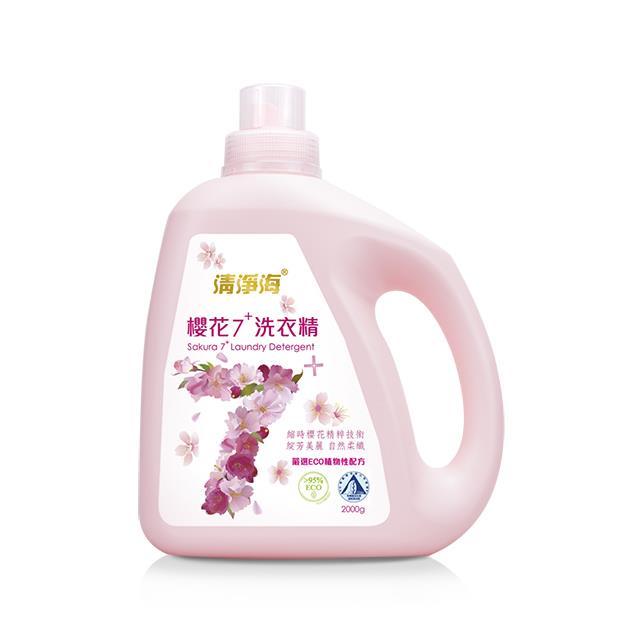清淨海 櫻花7+洗衣精 2000g (12入)