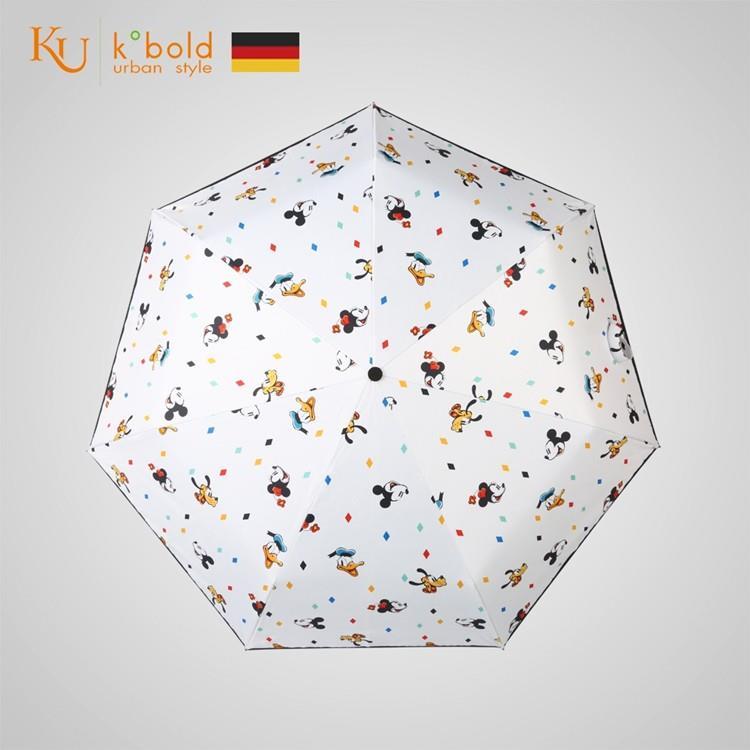 【德國kobold】迪士尼官方授權-7K晴雨兩用傘-米奇家族-白