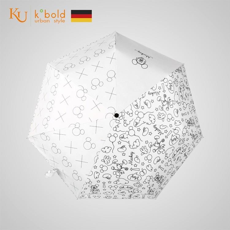 【德國kobold】迪士尼官方授權-7K晴雨兩用傘-簡筆塗鴉-白