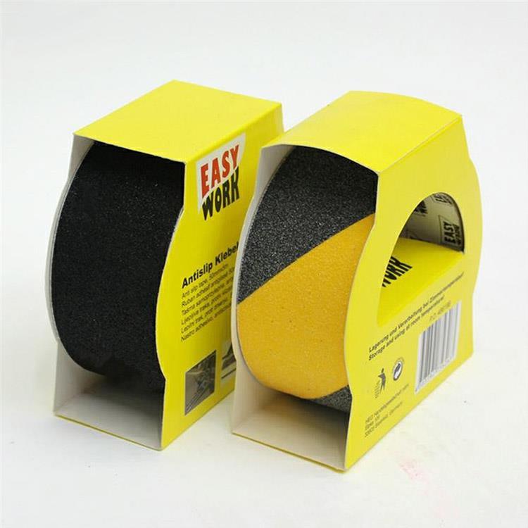 PVC 寬5公分 黑黃防滑膠帶 樓梯防滑貼(2入1組)