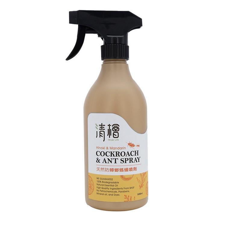 【清檜】天然防蟑螂螞蟻噴劑(500ml/瓶) 3入組