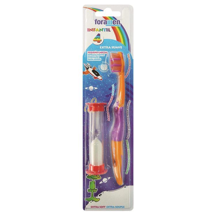 【西班牙Foramen】兒童牙刷(附刷牙計時流沙器)