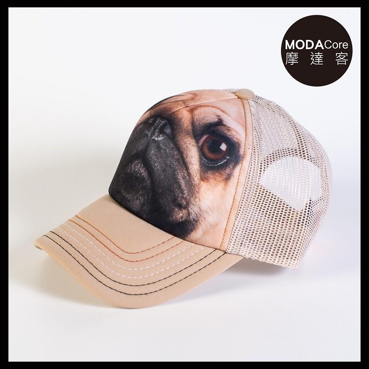 【摩達客】(預購)美國進口The Mountain 巴哥犬臉 藝術棒球網帽/5-Panel新五分割帽