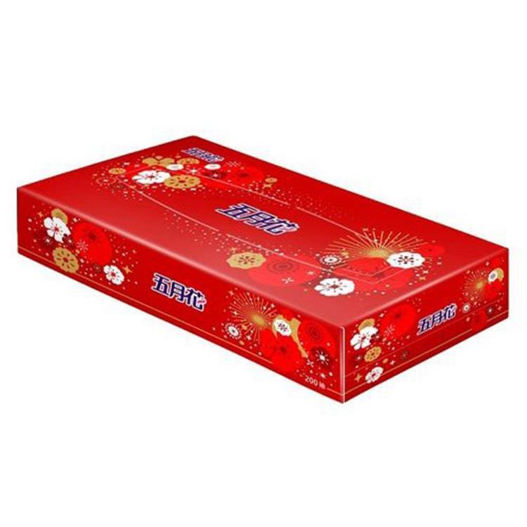 五月花 日式盒裝面紙-煙火版200抽**60盒