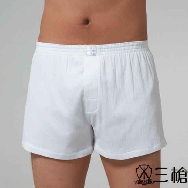 三槍牌 4件組 時尚型男府綢襯褲HE1055